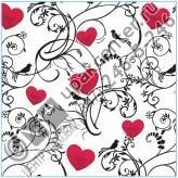 Приобрести оптом Салфетки 20 л., 2-х слойные, Bouquet Original «Орнамент с сердцем»